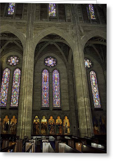 Grace Cathedral Stained Windows Greeting Card