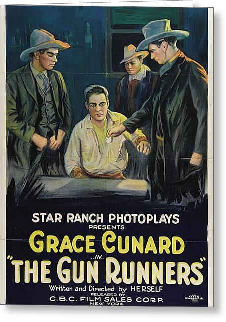Grace Cunard In The Gun Runners 1921 Greeting Card by Mountain Dreams