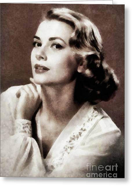 Grace Kelly, Actress, By Js Greeting Card
