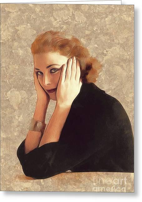 Grace Kelly, Hollywood Legend Greeting Card