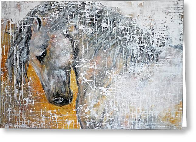 Abstract Horse Painting Graceful Beauty Greeting Card
