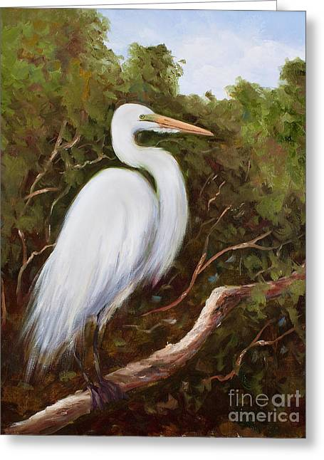 Graceful Egret Greeting Card