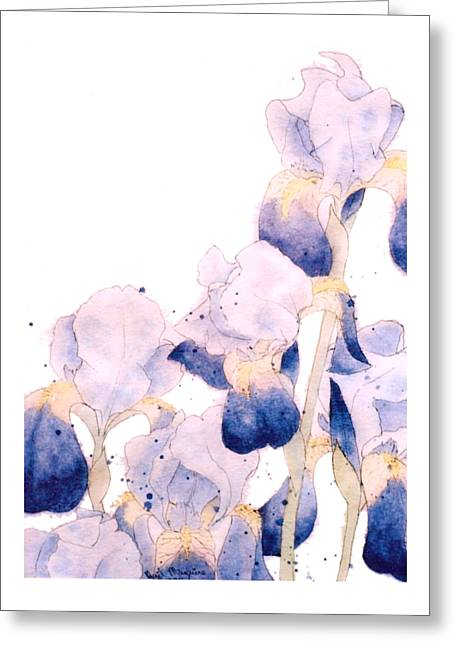 Graceful Iris Greeting Card by Gail Maguire