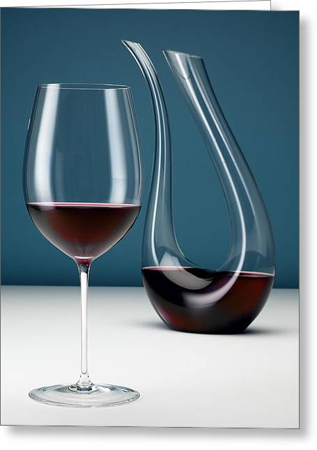 Editorial Greeting Cards - Graceful Merlot Greeting Card by Michael Kraus