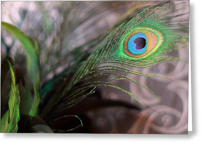 Graceful Peacock Feather Greeting Card