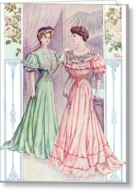 Graceful Princess Dress Greeting Card