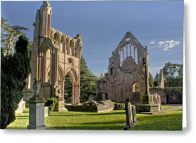 Graceful Ruins. Dryburgh Abbey. Greeting Card
