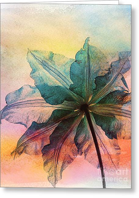 Greeting Card featuring the digital art Gracefulness by Klara Acel