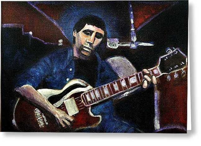 Greeting Card featuring the painting Graceland Tribute To Paul Simon by Seth Weaver
