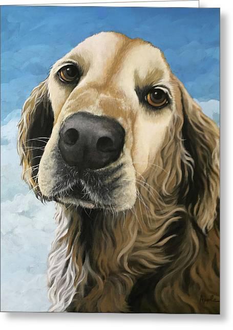 Gracie - Golden Retriever Dog Portrait Greeting Card