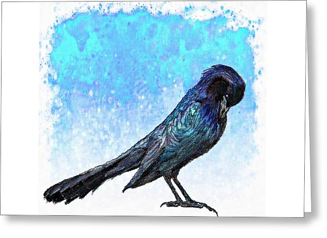 Grackle's Iridescence  Greeting Card