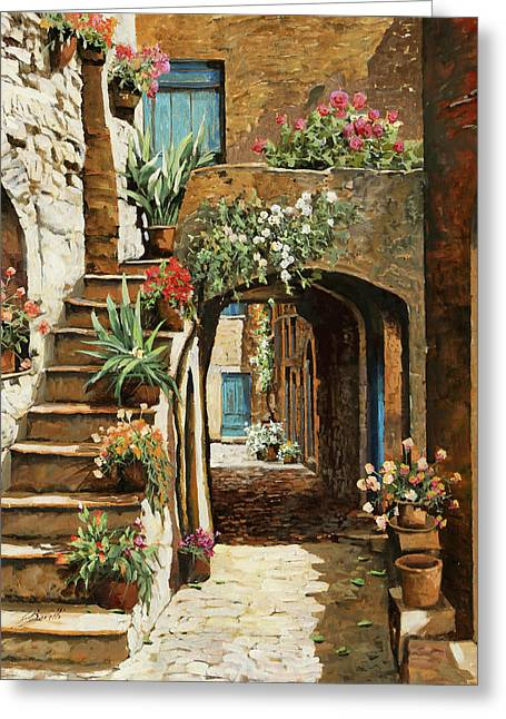 Gradini In Cortile Greeting Card