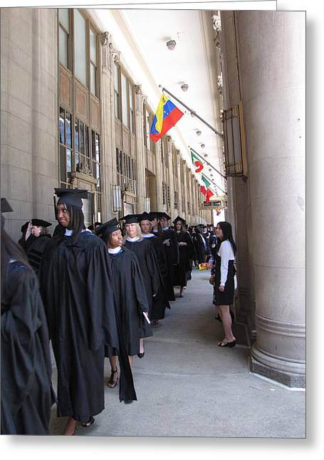 Graduation In Chi-town Greeting Card by Sylvia Wanty