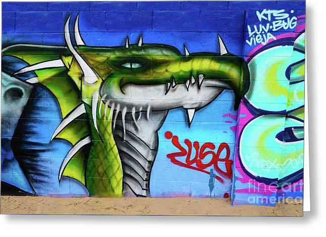 Graffiti Art Albuquerque New Mexico 6 Greeting Card by Bob Christopher