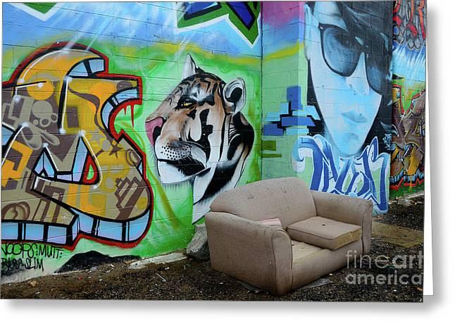 Graffiti Art Albuquerque New Mexico 7 Greeting Card by Bob Christopher
