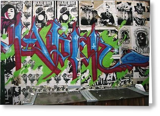 Graffiti Art Greeting Card by Signs of the tims collection