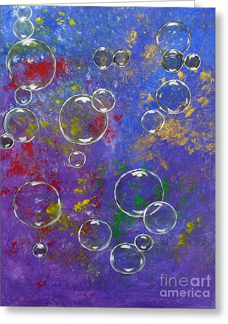 Graffiti Bubbles Greeting Card