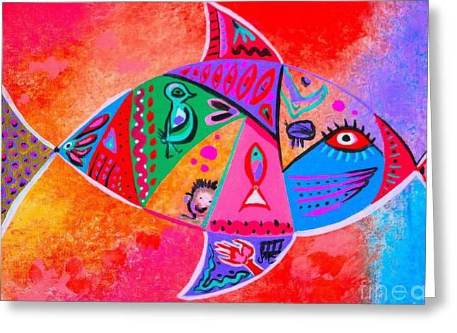 Graffiti Fish Greeting Card