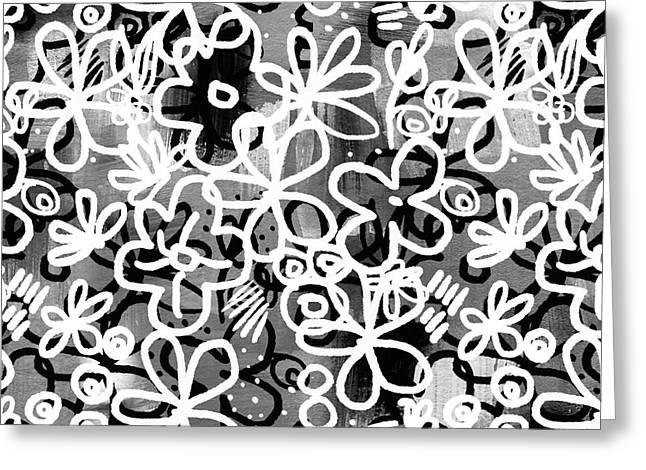 Graffiti Garden - Art By Linda Woods Greeting Card