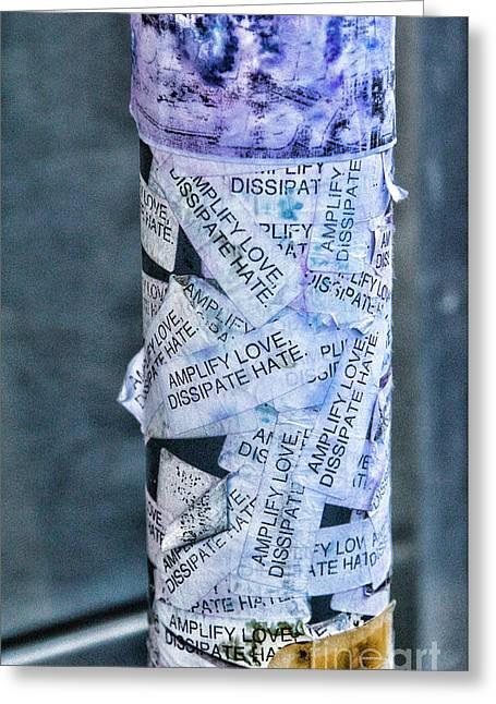 Graffiti Nyc  Greeting Card by Chuck Kuhn