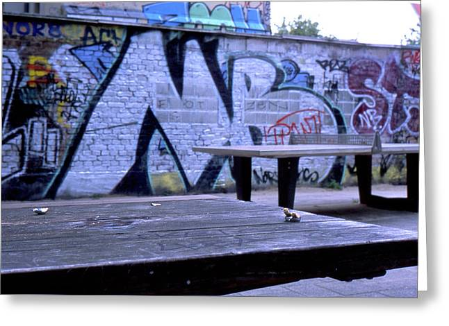 Graffiti Table Greeting Card