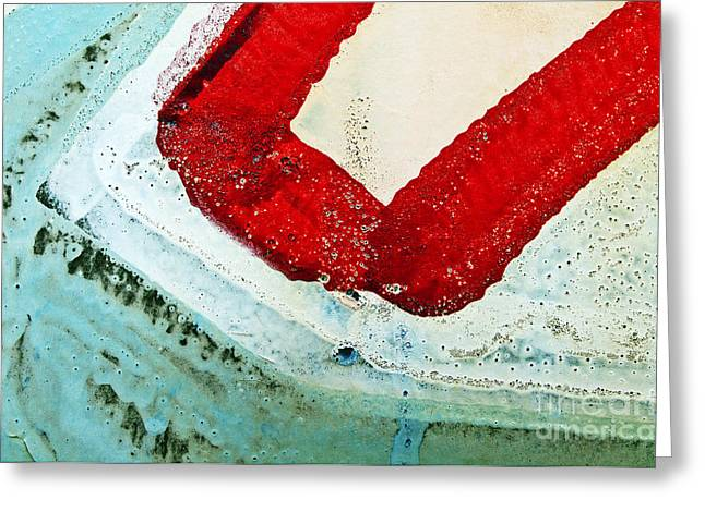 Graffiti Texture IIi Greeting Card by Ray Laskowitz - Printscapes