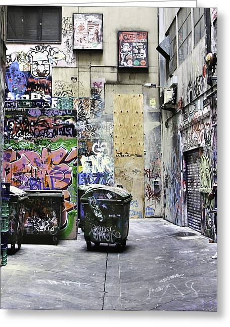 Grafitti Alley Greeting Card by Mark Coran