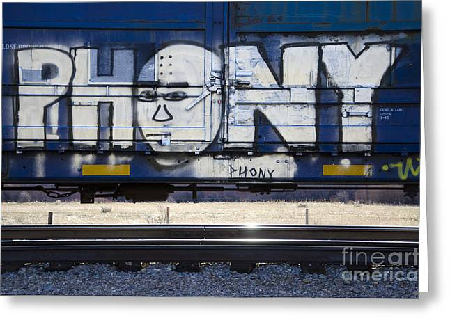 Grafitti Art Riding The Rails 4 Greeting Card by Bob Christopher
