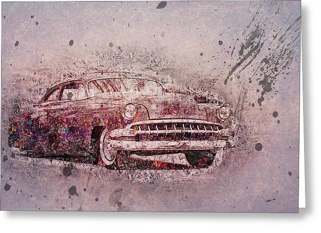 Greeting Card featuring the photograph Graffiti Merc by Joel Witmeyer
