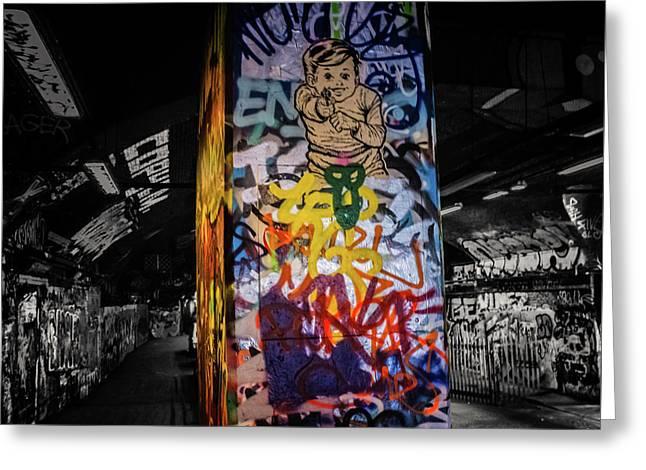 Grafitti Tunnel Greeting Card