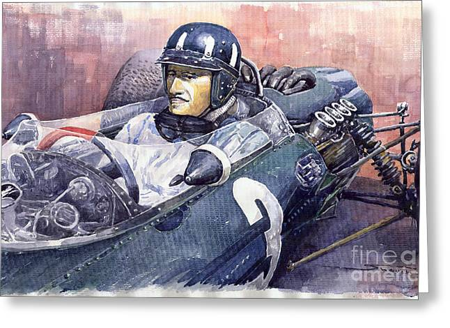Graham Hill Brm P261 1965 Greeting Card by Yuriy  Shevchuk