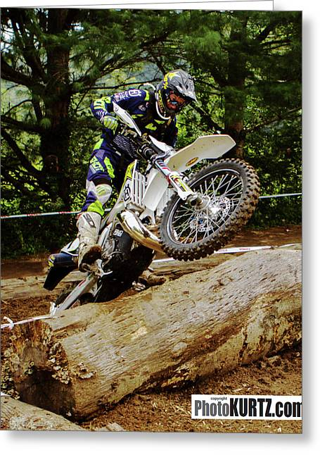 Graham Jarvis At 2017 Kenda Tennessee Knockout Enduro Greeting Card