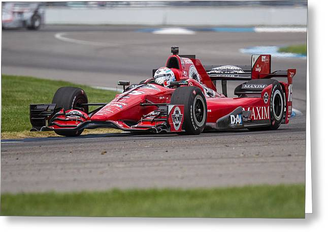 Graham Rahal Greeting Card by David Lambert
