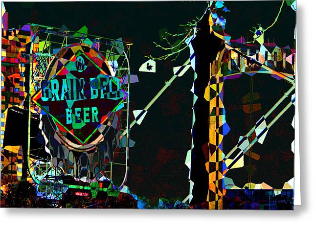 Hennepin Greeting Cards - Grain Belt Collage Greeting Card by Rashelle Brown