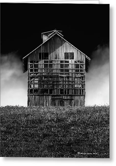 Grain Dryer Bw Greeting Card by Marvin Spates