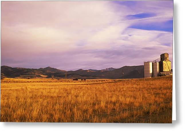 Grain Elevator Fairfield Id Greeting Card by Panoramic Images