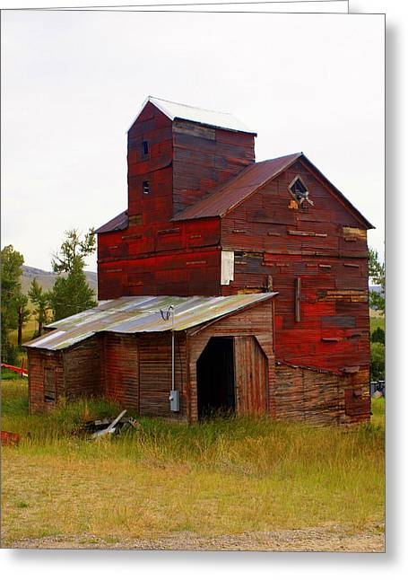 Grain Elevator Greeting Card