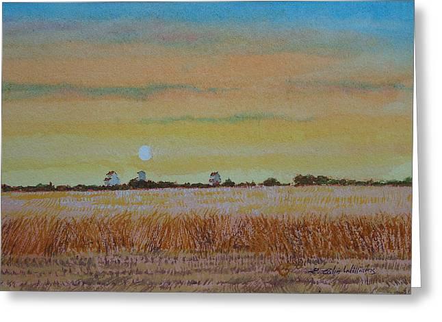 Grain Elevators - Late Afternoon Greeting Card