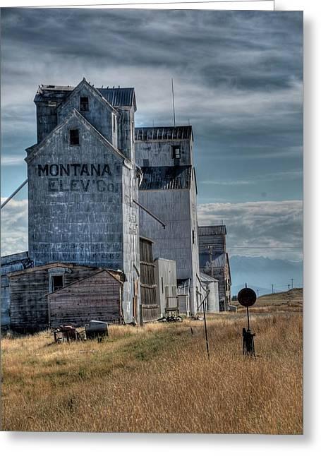 Grain Elevators, Wilsall Greeting Card