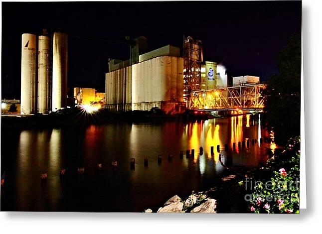Grain Mill On The Water Greeting Card by Daniel J Ruggiero