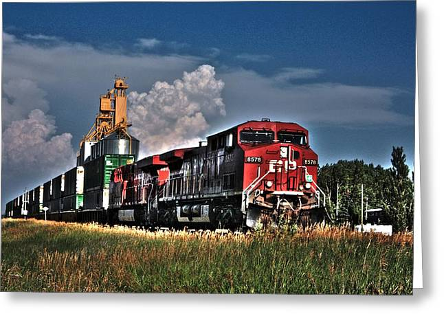 Grain Train Greeting Card