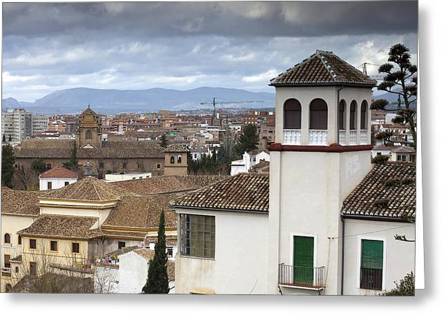 Granada Greeting Card by Andre Goncalves