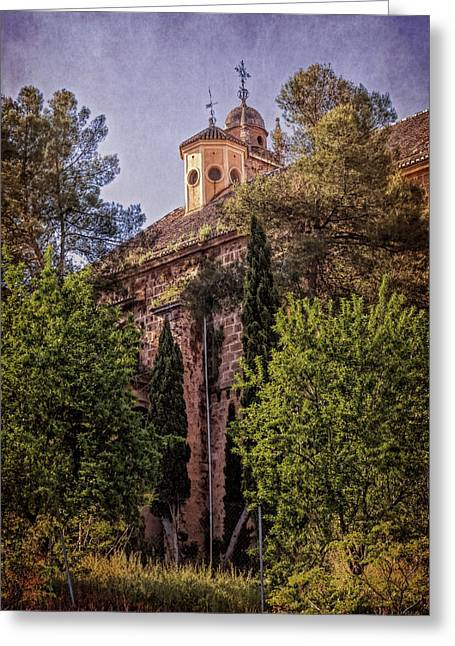 Granada Monastery Greeting Card by Joan Carroll