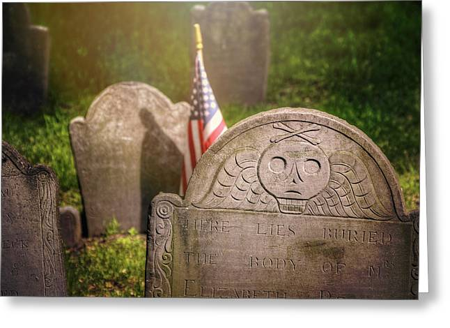 Granary Burying Ground Boston  Greeting Card