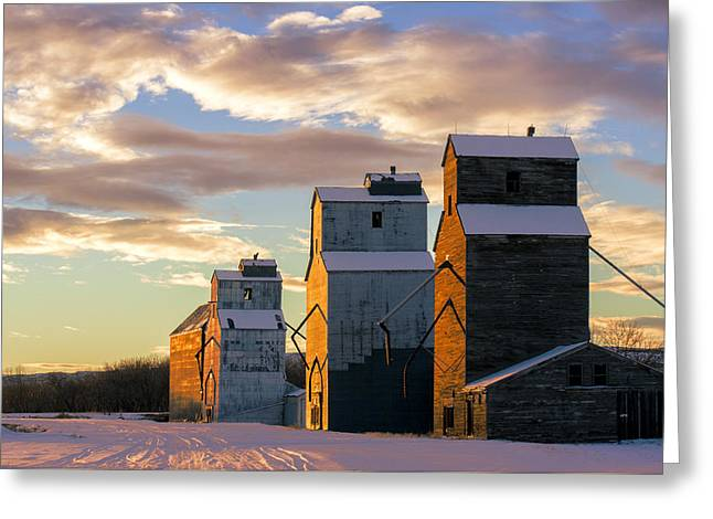 Granary Row Greeting Card by Todd Klassy
