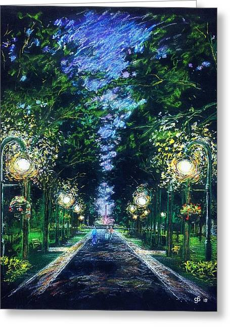 Grand Allee Greeting Card