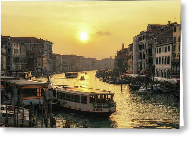 Greeting Card featuring the photograph Grand Canal At Sunset by James Billings