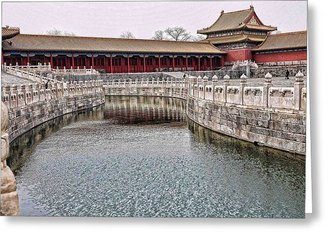 Grand Canal Forbidden City Greeting Card by Barb Hauxwell