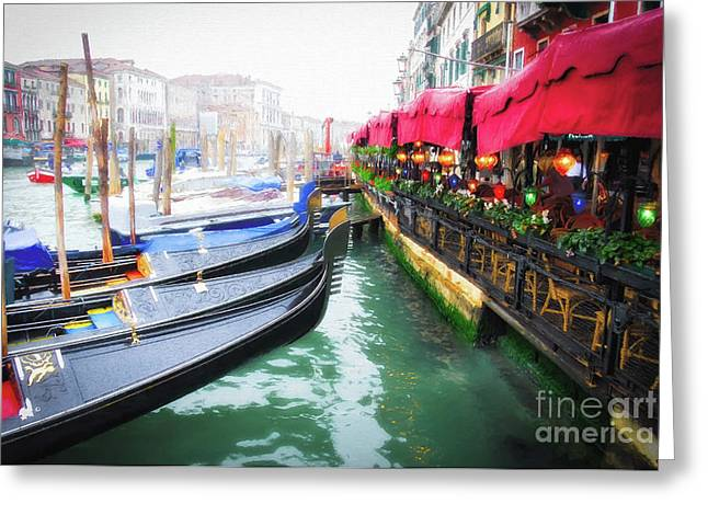 Grand Canal In Venice # 2 Greeting Card by Mel Steinhauer