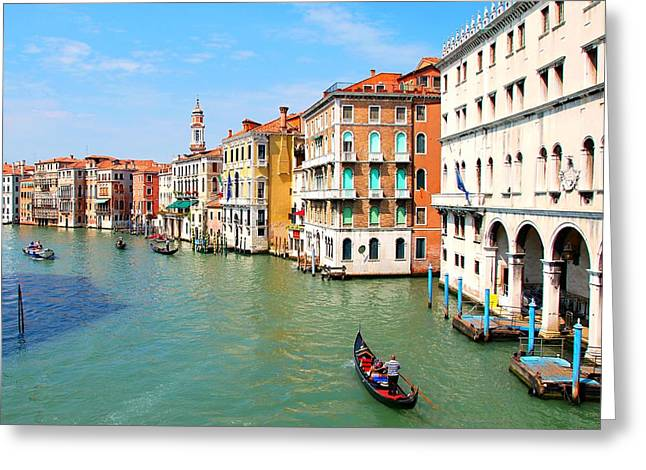 Grand Canal In Venice. Greeting Card